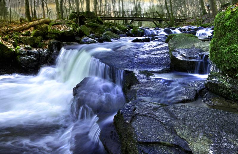 4529 Holzbachschlucht Wasserfallpanorama Klein