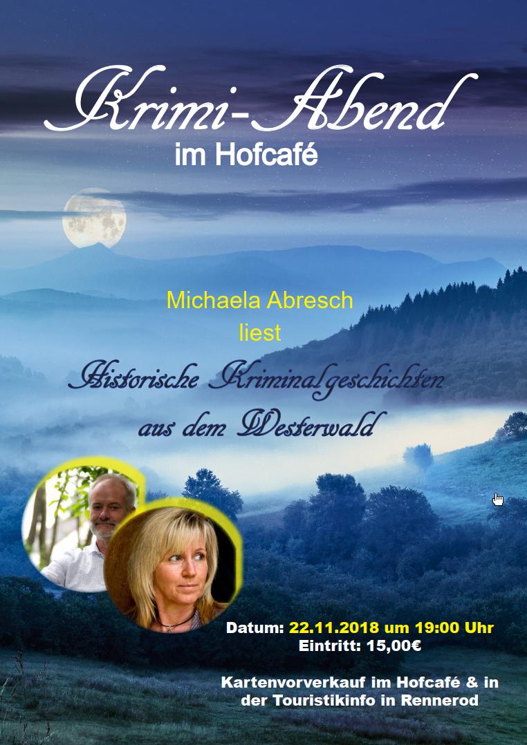 """Krimi-Abend 2018: Michael Abresch Liest """"Histrorische Kriminalgeschichten Aus Dem Westerwald"""""""