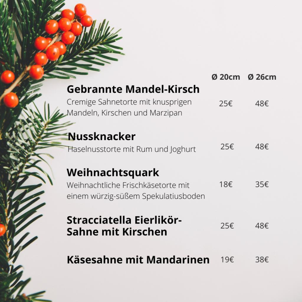 """Kuchensortiment """"Besinnliche Kuchenzeit"""" im Hof Café"""